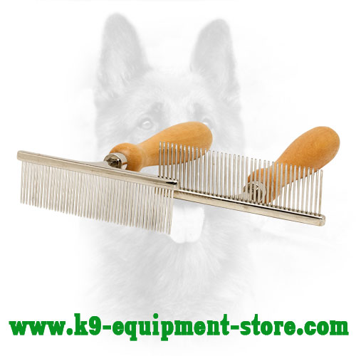 ''Personal Stylist'' Chrome-plated Brush for Dog Coat Grooming