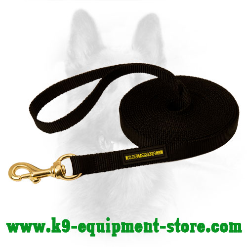 Nylon Dog Lead for K9 Training and Tracking