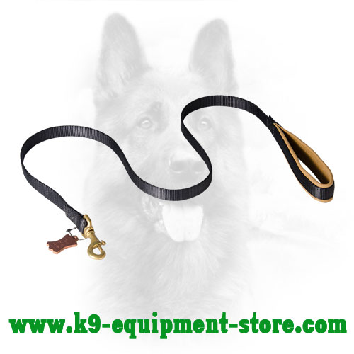 Nylon Police Dog Lead With Support Material on Handle