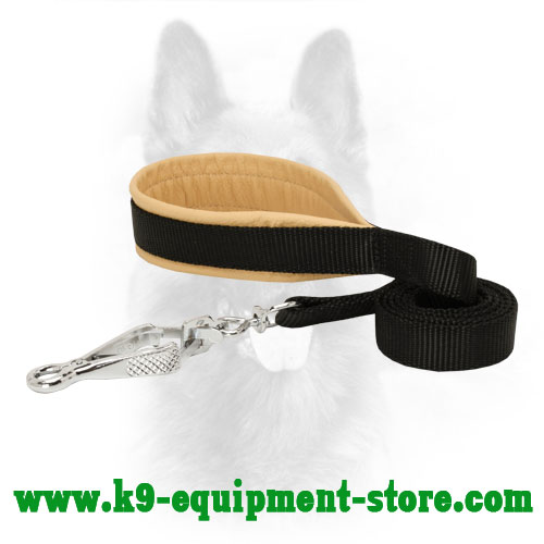 Padded Nylon Police Dog Leash for Walking and Training