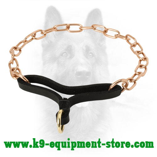 Perfect Control K9 Martingale Collar Made of Curogan - 1/9 inch (3 mm) link diameter