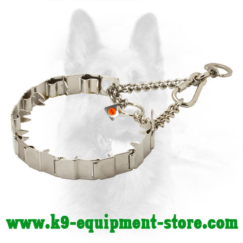 Neck Tech Stainless Steel Police Dog Pinch Collar