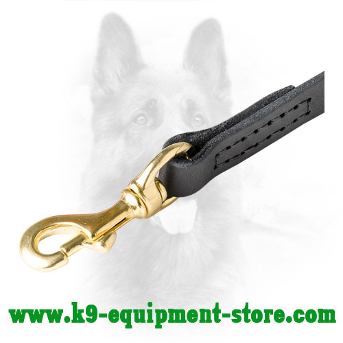 Brass Snap Hook for Police Dog Leash Easy Attachment