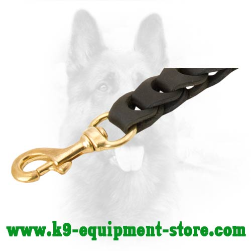 Nappa Padded On The Handle Leather Dog Leash