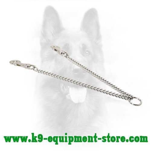 Chrome Plated Metal Canine Coupler for Everyday Walks