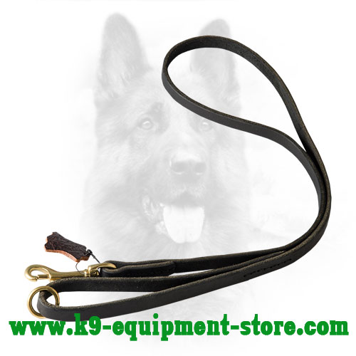 Leather Dog Leash Multifunctional with Floating Ring