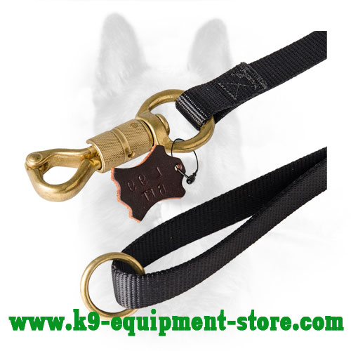 Nylon Dog Lead with Rustproof Brass Snap Hook