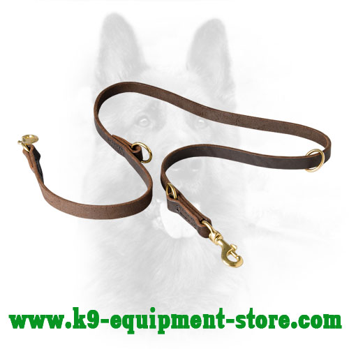 K9 Leather Dog Leash for Versatile Activities