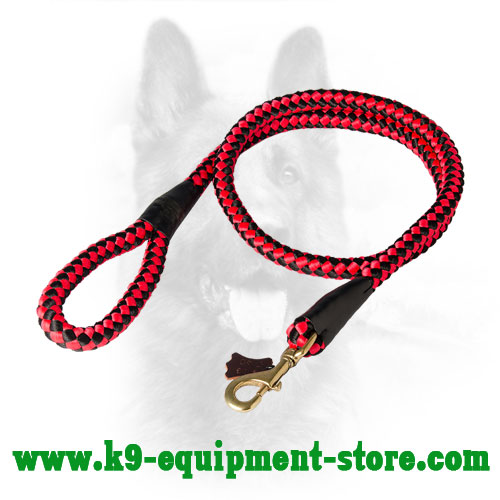 Police Dog Cord Nylon Leash for Easy Tracking and Handling