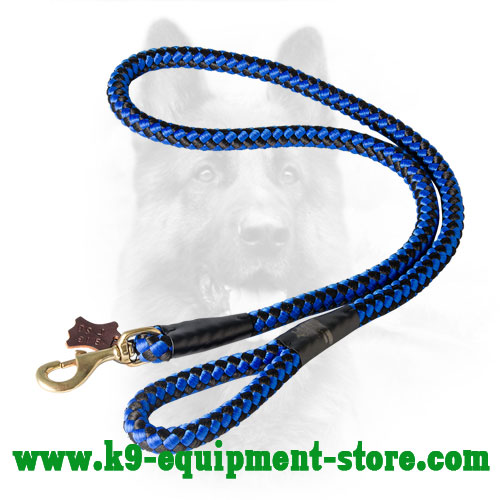 Police Dog Cord Nylon Leash with Comfortable Handle