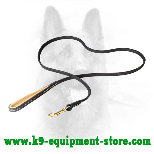 K9 Leash with Nappa Leather on Handle