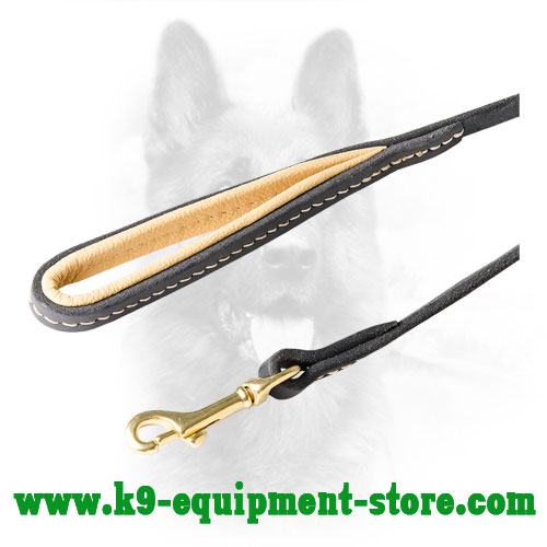 Canine Leather Leash with Rust Resistant Snap Hook