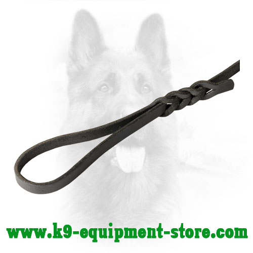 Canine Leather Leash with Comfortable in Use Handle