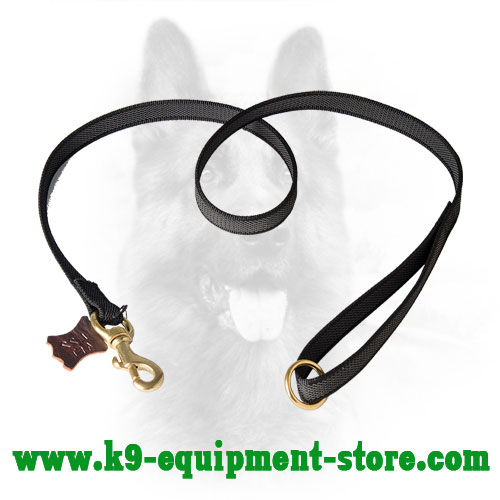 Canine Nylon Dog Leash Reinforced with Rubber Lines