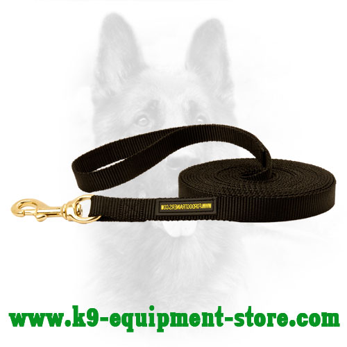 K9 Nylon Dog Leash with Easily Attached Brass Snap Hook