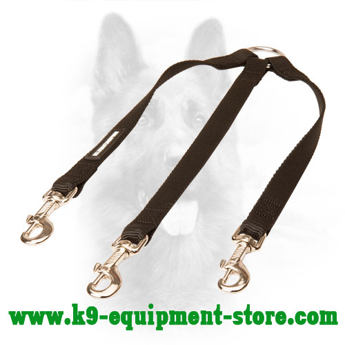 Canine Nylon Dog Coupler for Walking