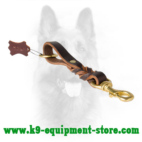 Handling Police Dog Leather Pull Tab