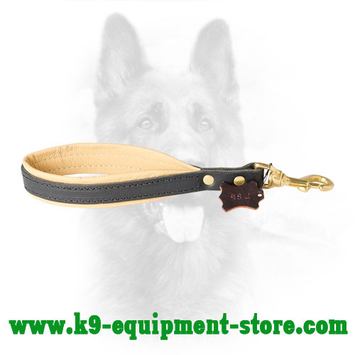 Police Dog Pull Tab with Nappa Leather on Handle