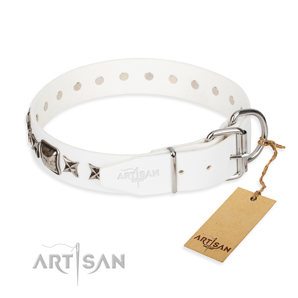 Best quality embellished dog collar of full grain genuine leather