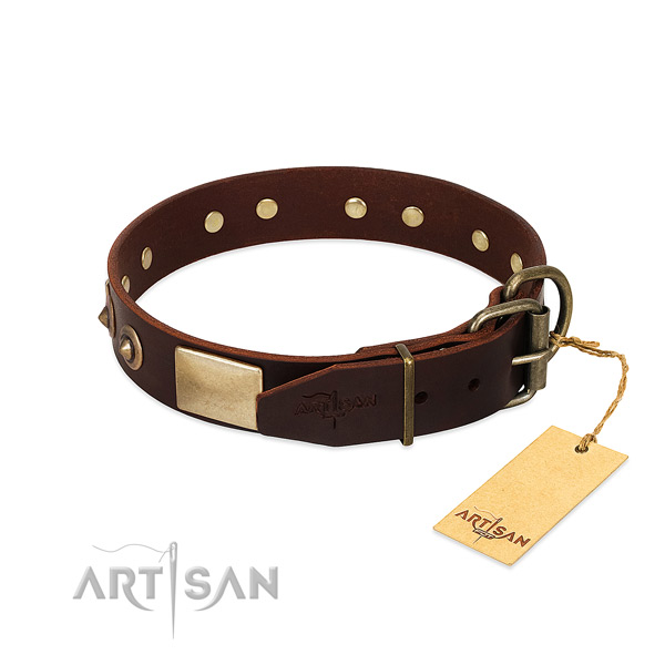 Strong buckle on comfortable wearing dog collar