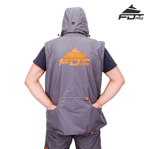 Best quality Dog Tracking Suit of Grey Color from FDT Pro