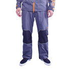 """Pro Pants"" Dark Grey Color with Orange Trim"
