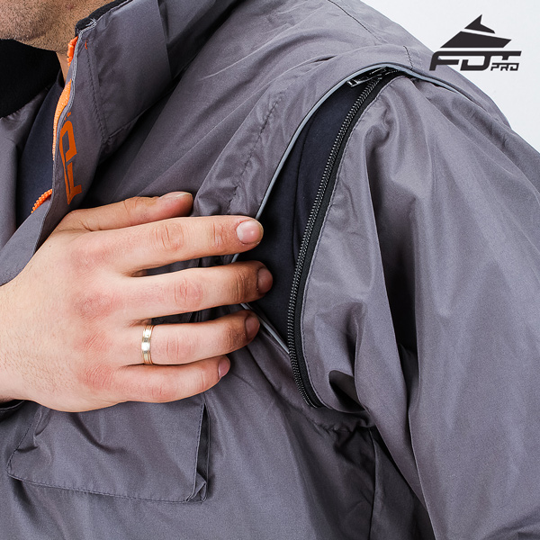 Reliable Zipper on Sleeve for Pro Design Dog Tracking Jacket