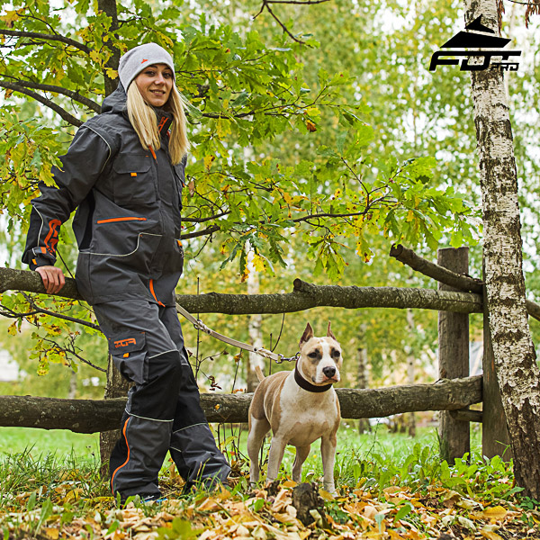Comfortable Side Pockets on Men and Women Design Pants for Active Dog Training