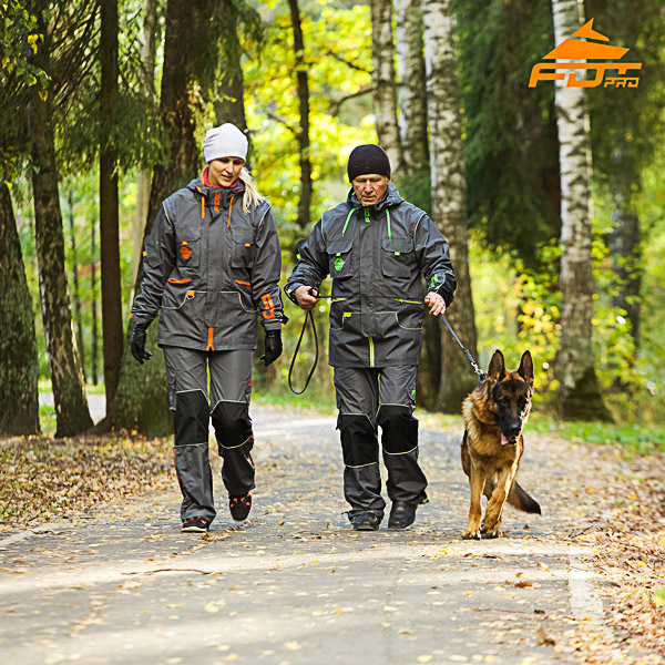 Unisex Durable Dog Training Suit for Men and Women with Reflective Strap