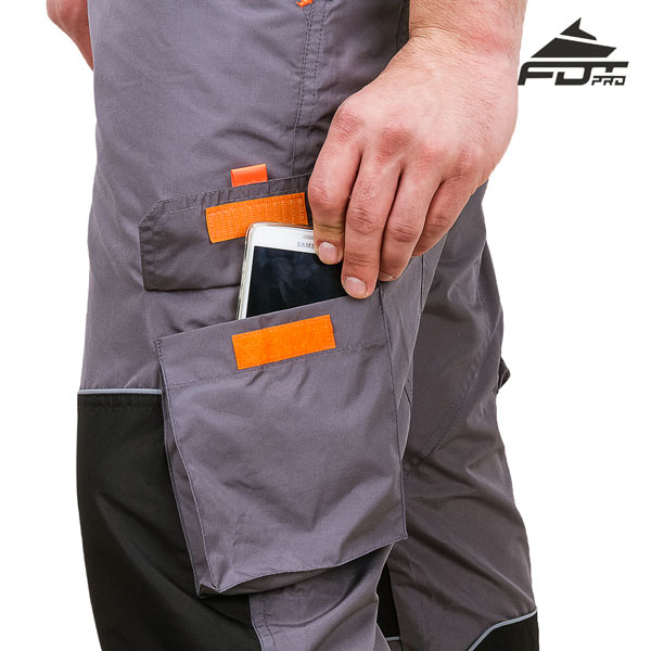 FDT Professional Design Dog Training Pants with Reliable Velcro Side Pocket