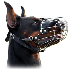 Easy Breathing Wire Cage Muzzle For Canine Dogs