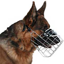 Free Breathing Wire Basket K9 Dogs Muzzle