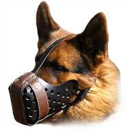 Canine Cool Style Leather Padded Muzzle
