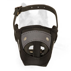 K9 Nylon Dog Muzzle with Wide Enough Leather Strap