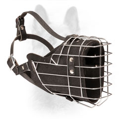 K9 Wire Basket Dog Muzzle Felt Padded for Snout Protection