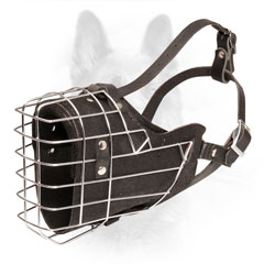 K9 Wire Cage Dog Muzzle with Durable Adjustable Straps and Buckles