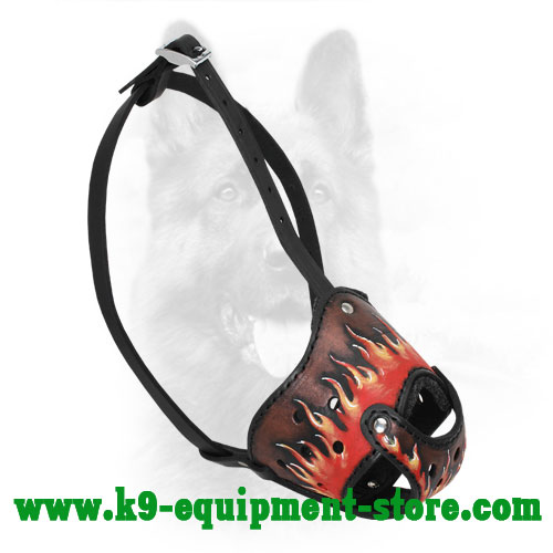 Leather Muzzle for K9 Obedience Training