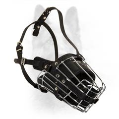 Extreme Design Steel And Leather Padded K9 Dogs Muzzle